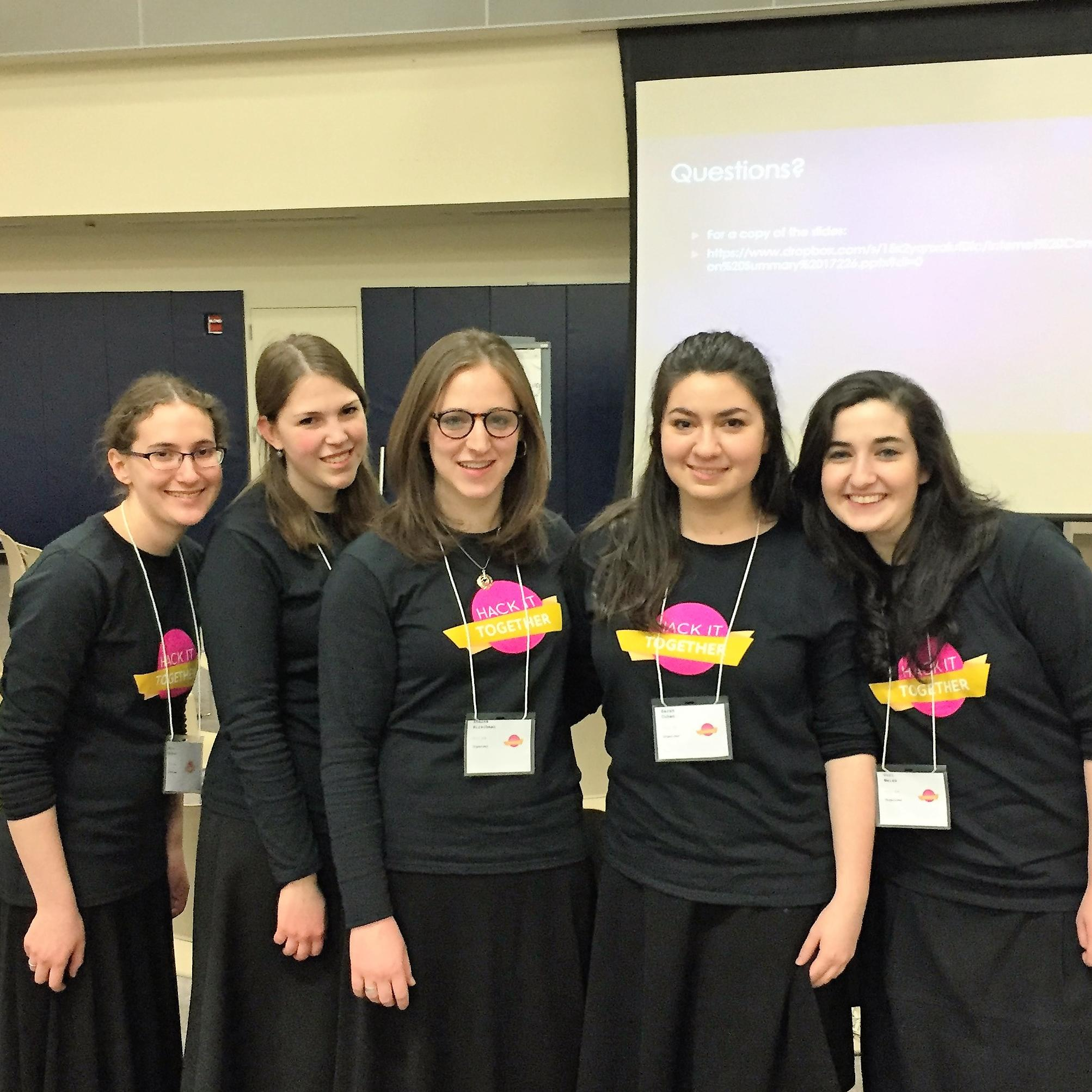 These LCW students organized LCW's second annual Hackathon, Hack It Together. Close to a hundred college students from across NY and NJ took part in the event, held on February 24.