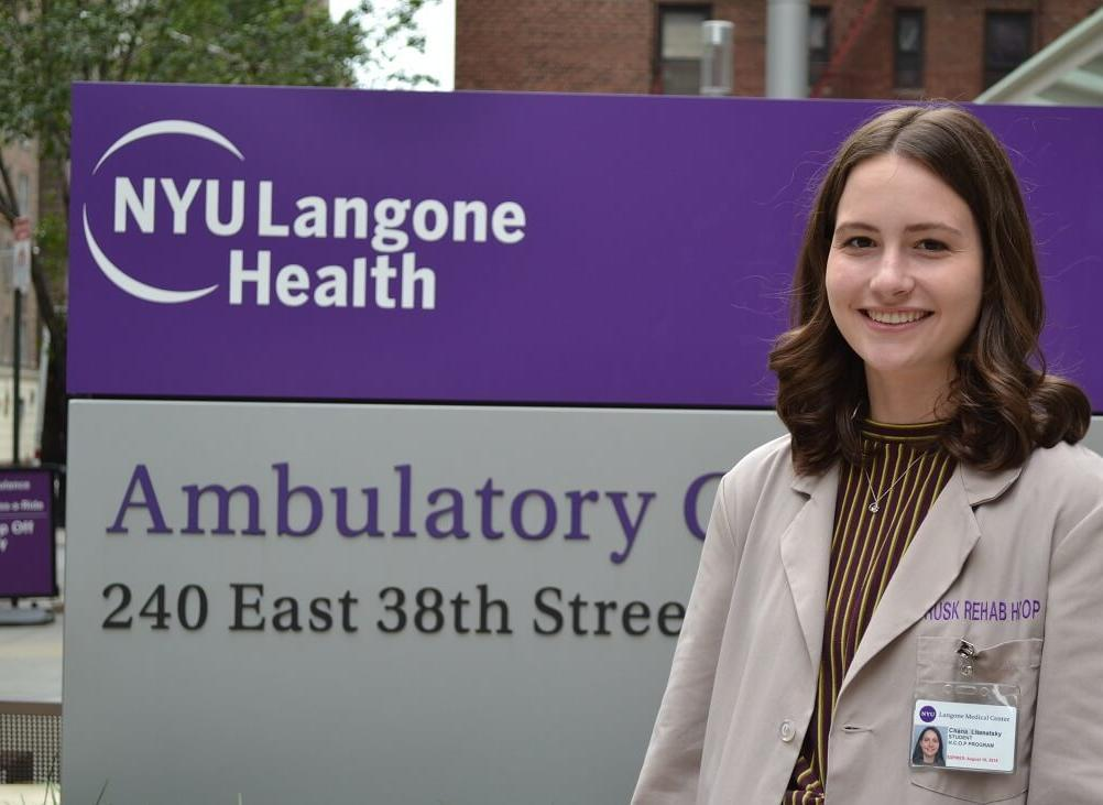 LCW's Chana Litenatsky spent her summer at NYU Langone's Rusk Rehabilitation Center.